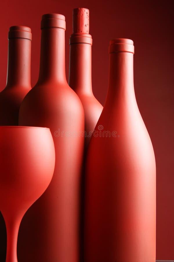 Bottiglie del vino rosso fotografie stock libere da diritti