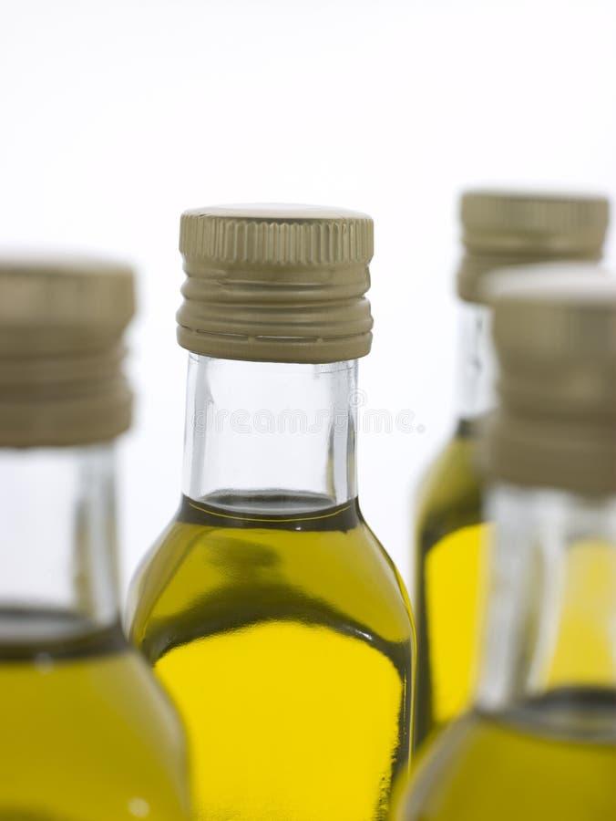 Bottiglie dell'olio di oliva del Virgin immagine stock libera da diritti