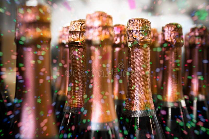 Bottiglie della bevanda fotografia stock