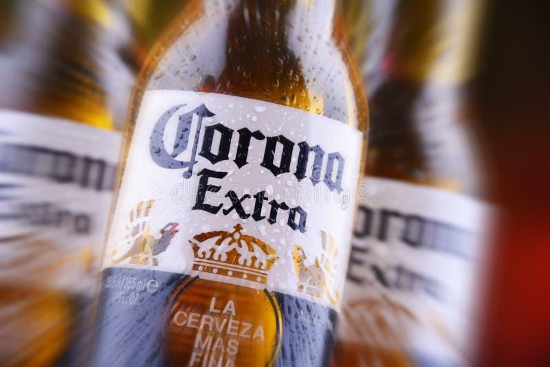 Bottiglie della birra di Corona Extra fotografia stock libera da diritti