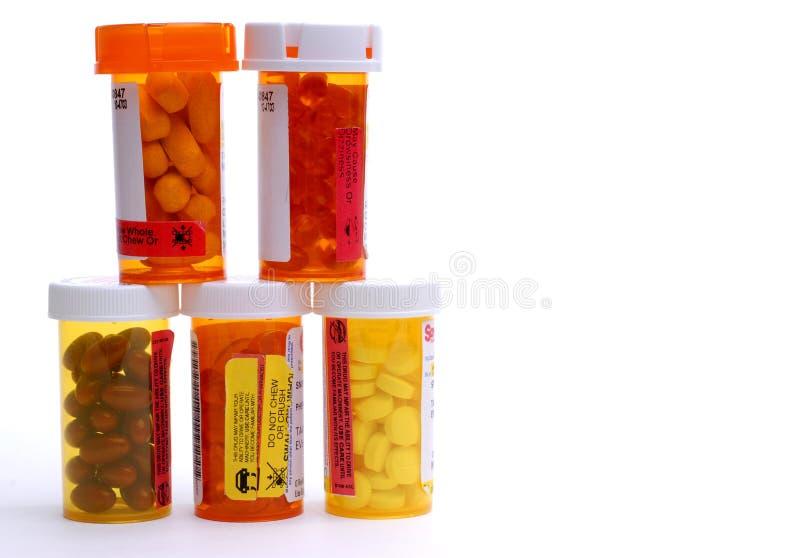 Bottiglie della medicina fotografie stock libere da diritti