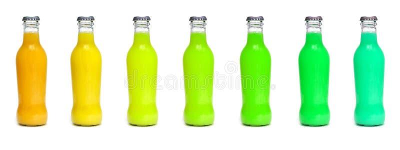 Bottiglie della spremuta immagine stock libera da diritti