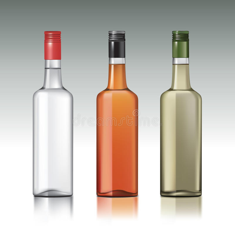 Bottiglie della vodka royalty illustrazione gratis