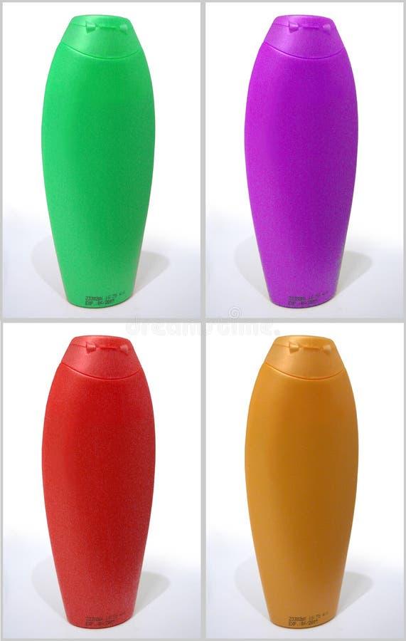 Bottiglie dello sciampo fotografie stock libere da diritti