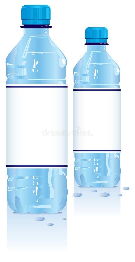 Bottiglie di acqua di plastica illustrazione di stock