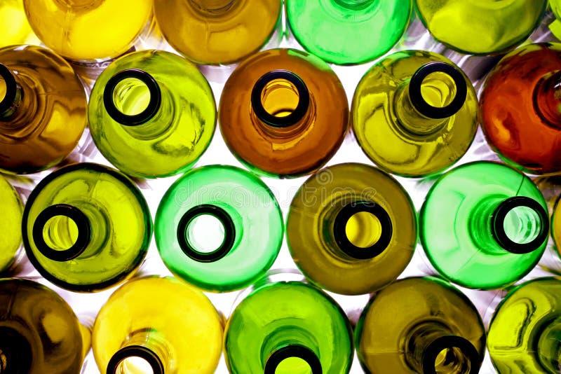 Bottiglie di Backlited fotografie stock