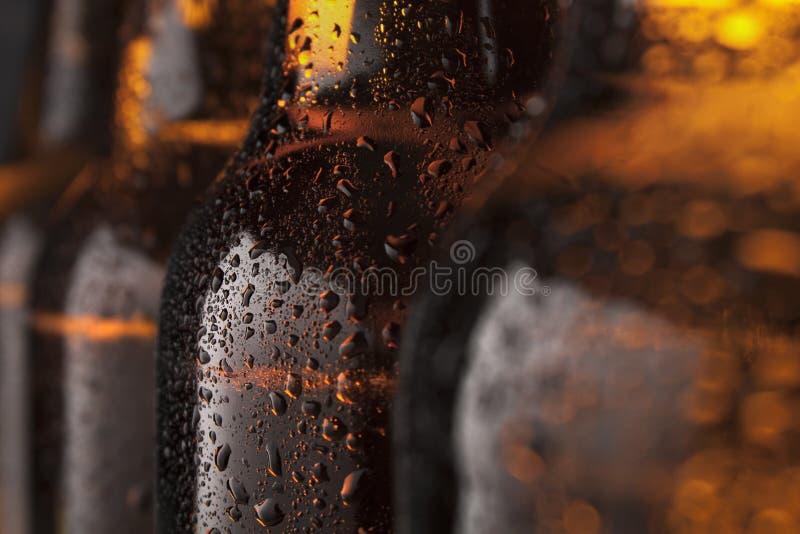 Bottiglie di birra fotografia stock libera da diritti