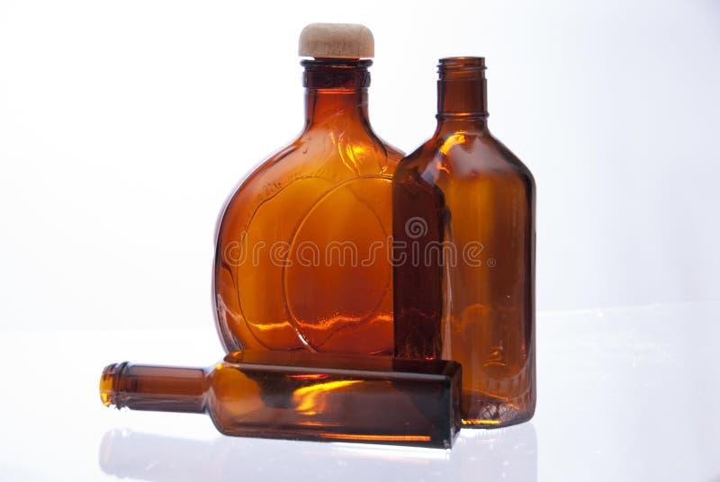 Bottiglie di Brown fotografia stock libera da diritti