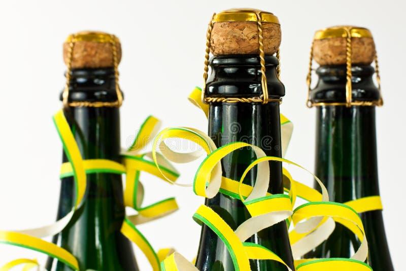 Bottiglie di Champagne immagine stock libera da diritti