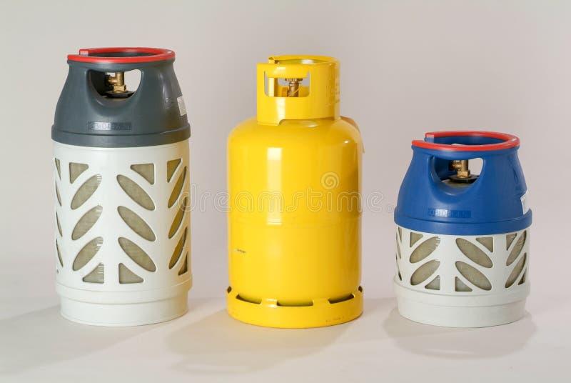 Bottiglie di gas isolate immagini stock