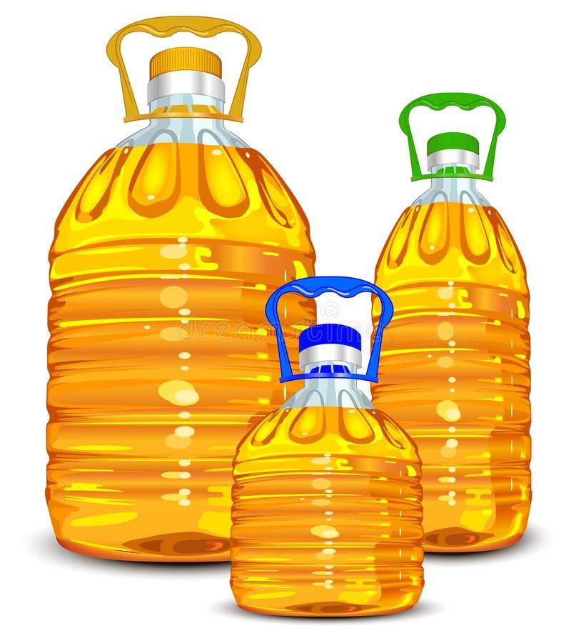 Bottiglie di olio royalty illustrazione gratis
