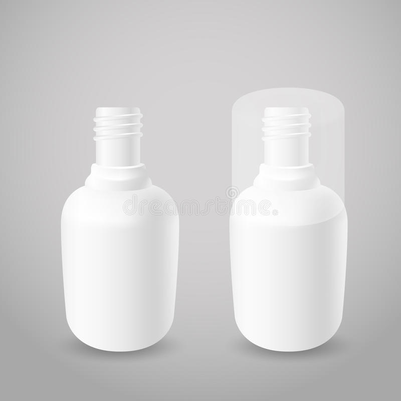 Bottiglie di plastica bianche illustrazione vettoriale