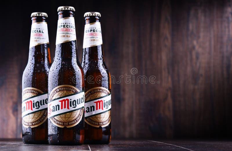 Bottiglie di San Miguel Beer immagini stock