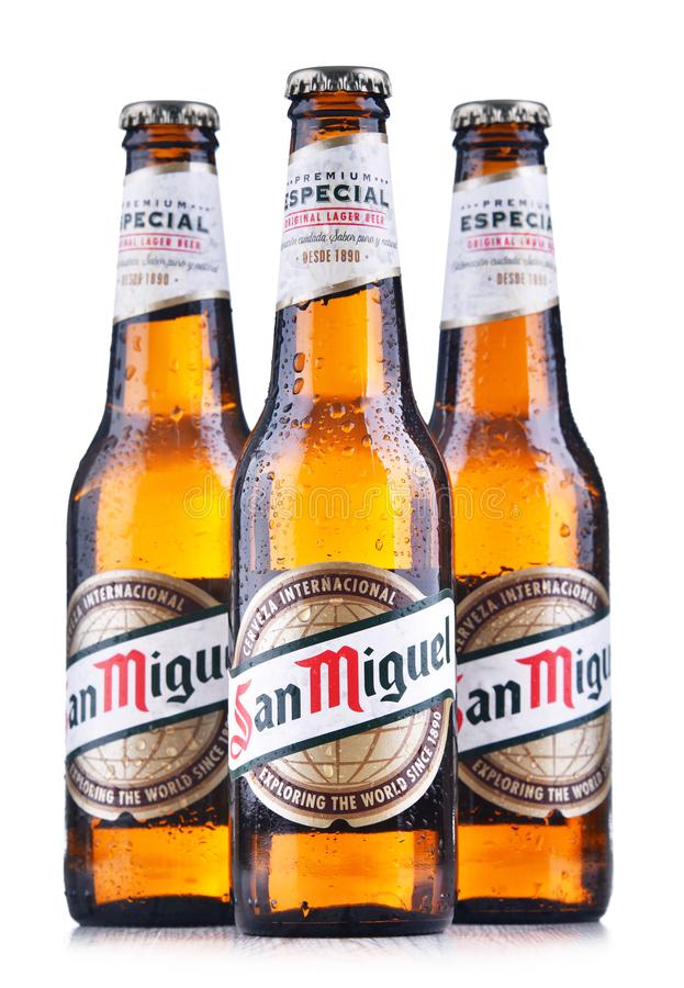 Bottiglie di San Miguel Beer immagine stock libera da diritti