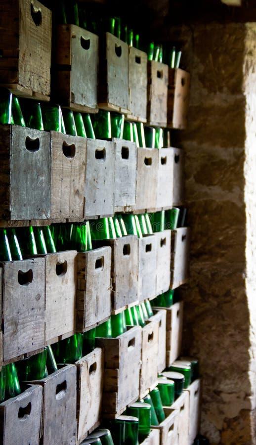 Bottiglie di sidro fotografia stock