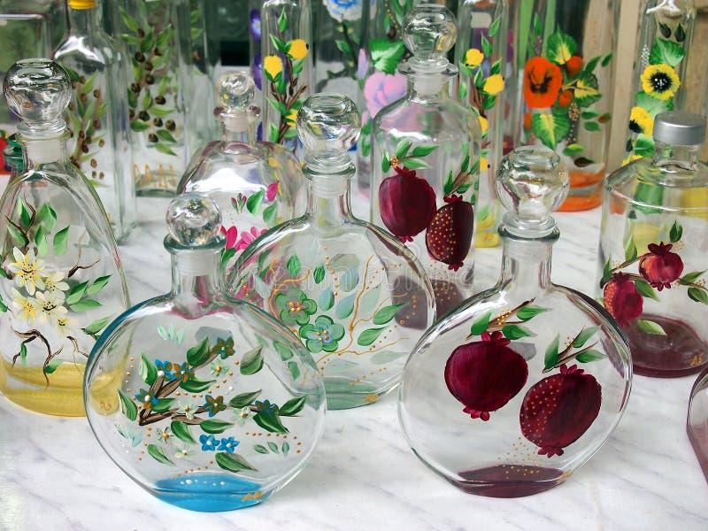 Bottiglie di vetro decorate fotografia stock immagine di - Bottiglie vetro decorate ...