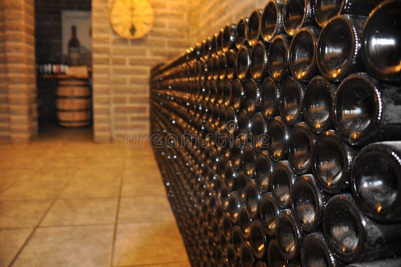 Bottiglie di vino immagini stock libere da diritti