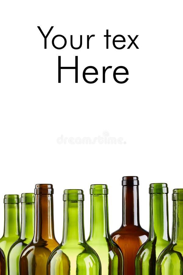 Bottiglie di vino vuote immagini stock libere da diritti