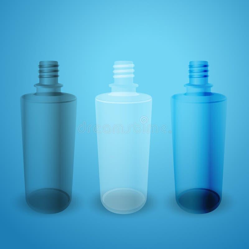 Bottiglie opache e lucide illustrazione di stock