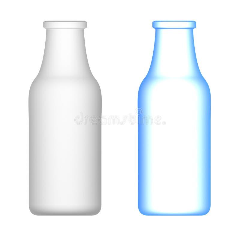Bottiglie per il latte illustrazione di stock