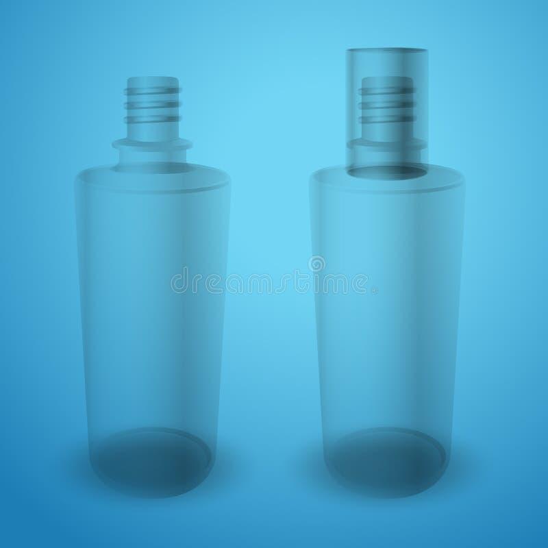 Bottiglie trasparenti opache royalty illustrazione gratis