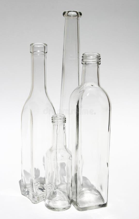 Bottiglie vuote immagine stock