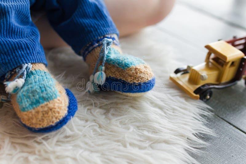 Bottini fatti a mano del bambino fotografia stock libera da diritti