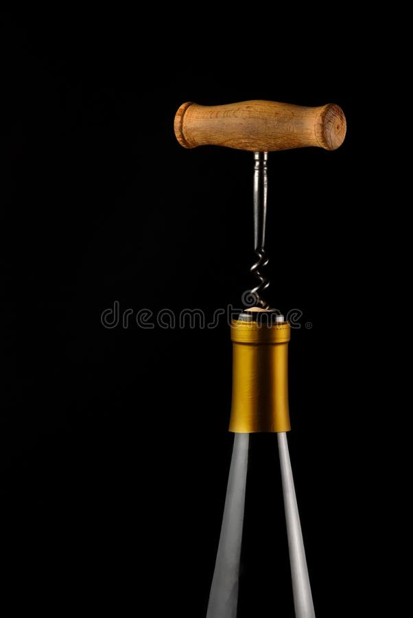 Bottl of wine and corkscrew
