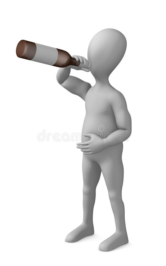 Download Bottle stock illustration. Image of bottle, beer, character - 13394766