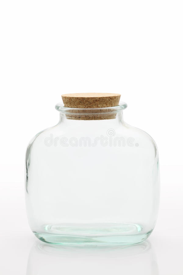 Bottle. Glass bottle isolated on white background stock photography