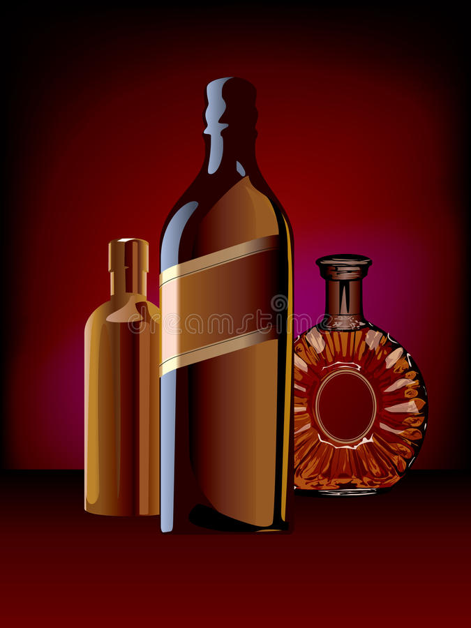 Download Bottle stock vector. Illustration of still, cognac, wine - 25925929