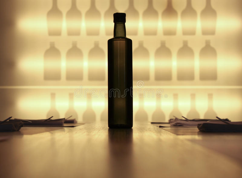 Download The Bottle stock image. Image of dinner, napkins, silverware - 26586637