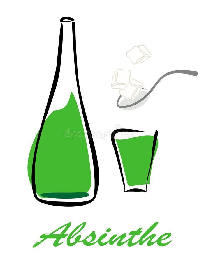 Download Bottle of absinthe stock vector. Illustration of absinthe - 30455016