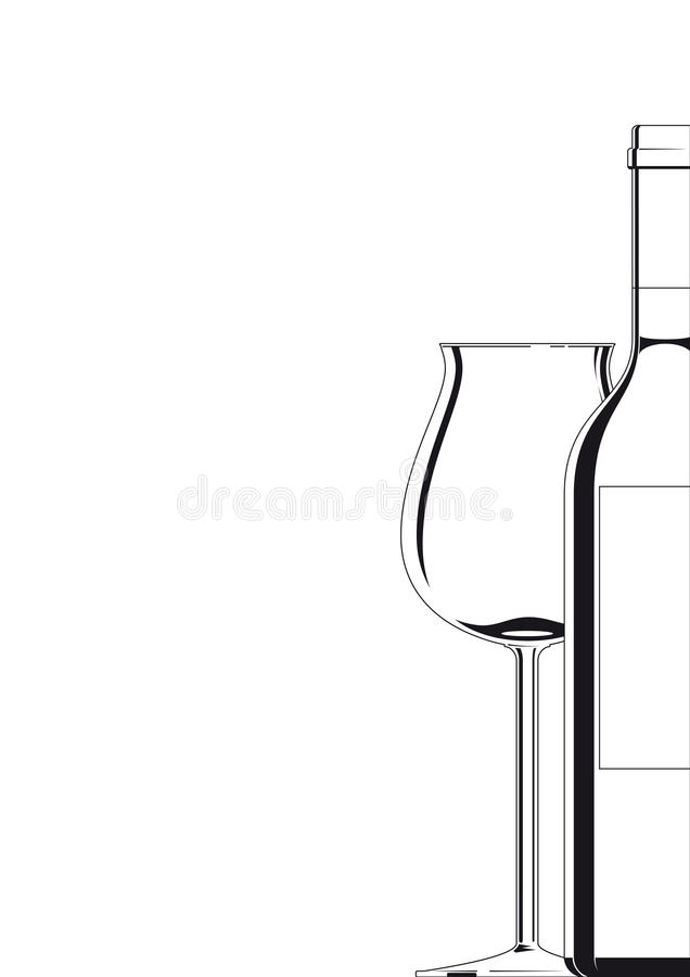 Free Bottle And Glass White On White Royalty Free Stock Image - 13971986
