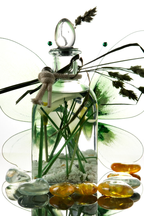 Download Bottle with aromatic oil stock image. Image of nature - 2019723