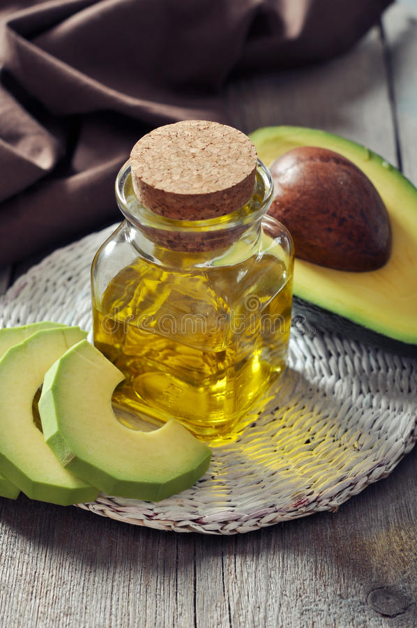 Download Bottle Of Avocado Essential Oil Stock Photo - Image: 34375974