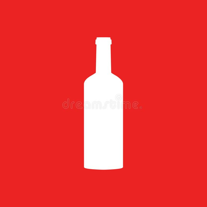 Bottle and background. As vector illustration royalty free illustration