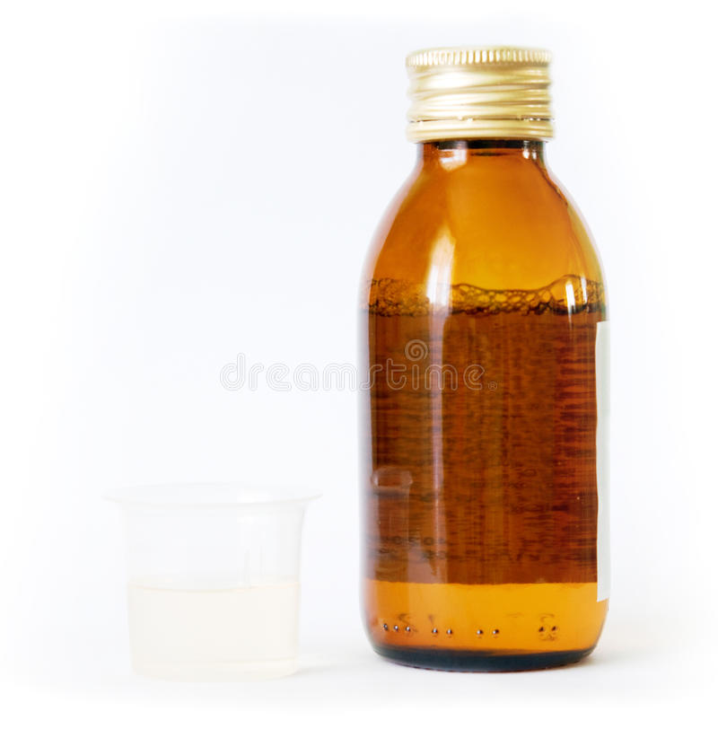 Download Bottle And Beaker With Medicine Stock Photo - Image: 23885076