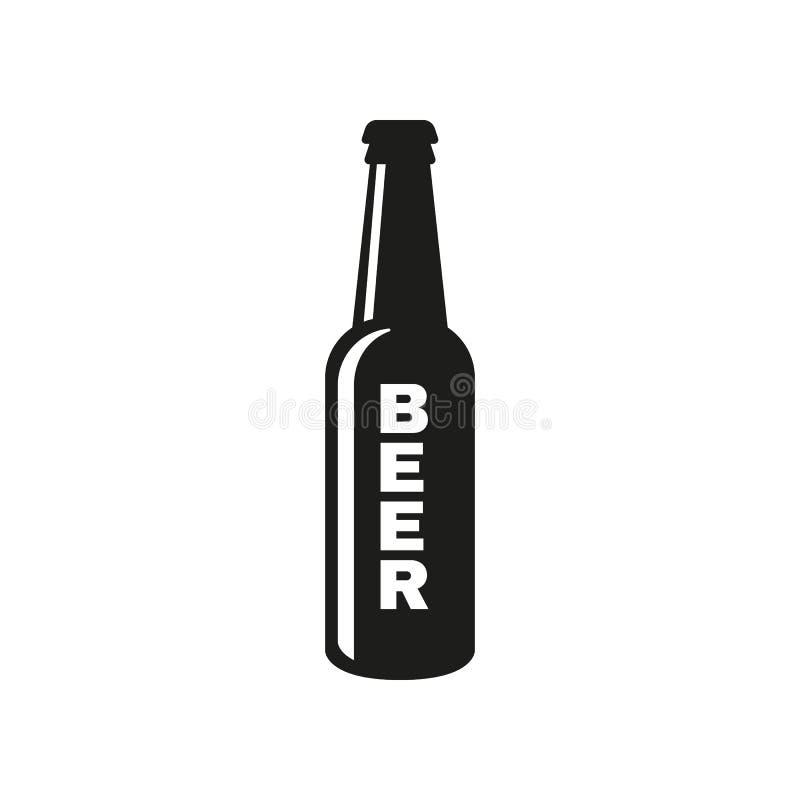 Bottle of beer icon. Beer and pub, bar symbol. UI. Web. Logo. Sign. Flat design. App.Stock vector illustration