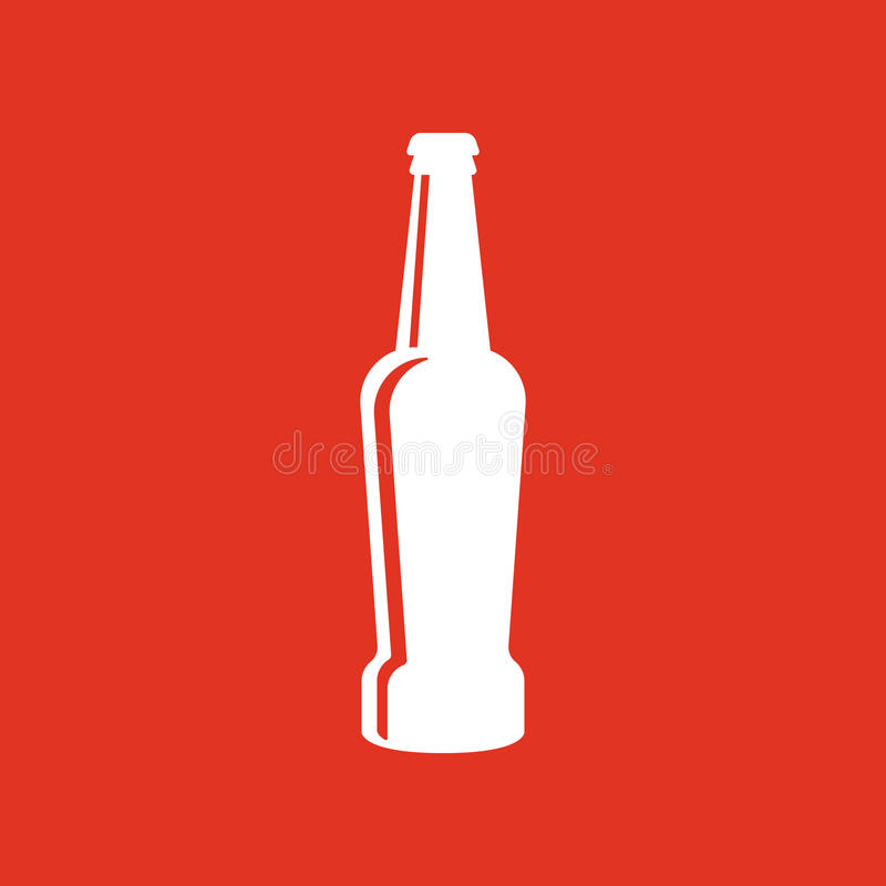 Bottle of beer icon. Beer and pub, bar symbol. UI. Web. Logo. Sign. Flat design. App.Stock. Bottle of beer icon. Beer and pub, bar symbol. UI. Web. Logo. Sign vector illustration