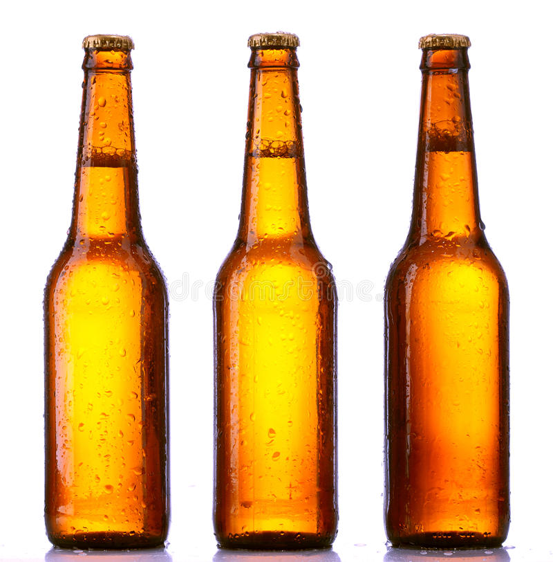 Bottle beer isolated. On white background royalty free stock photo