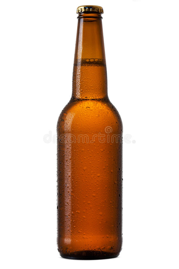 Bottle of beer. Isolated on white background stock photography