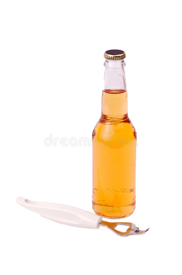 A bottle of beer stock photo