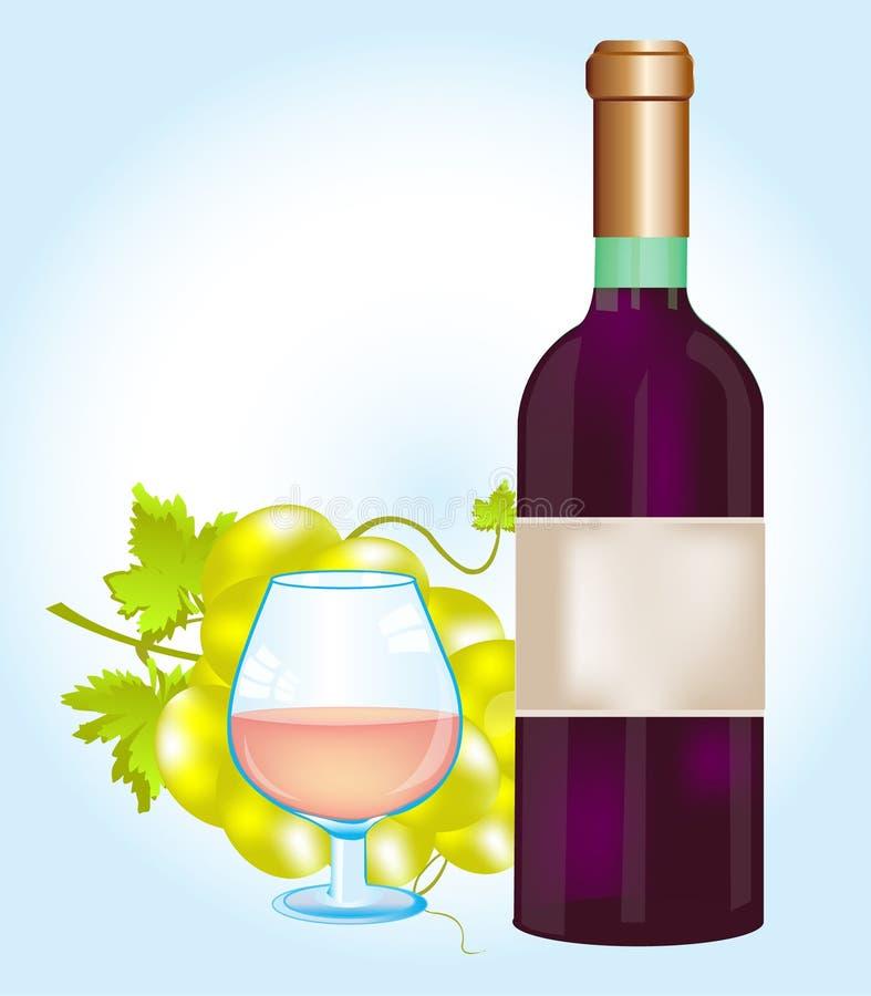 Download Bottle blame and grape stock vector. Illustration of grape - 23219760