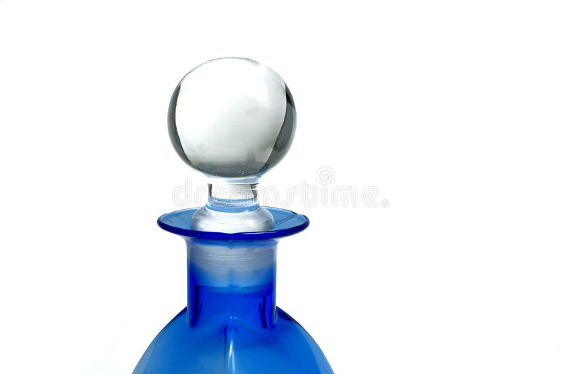 Bottle in blue royalty free stock image