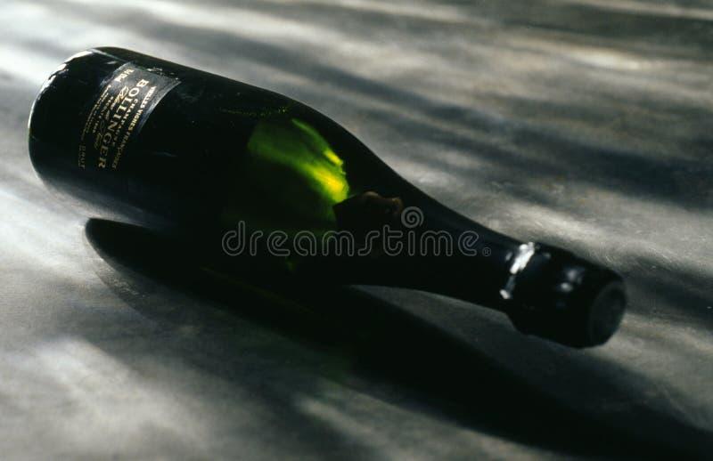 Bottle of Bollinger Champagne stock photography