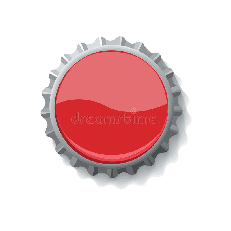 Bottle cap for drinks. Vector illustration of drink bottle cap customizable with company logo and text