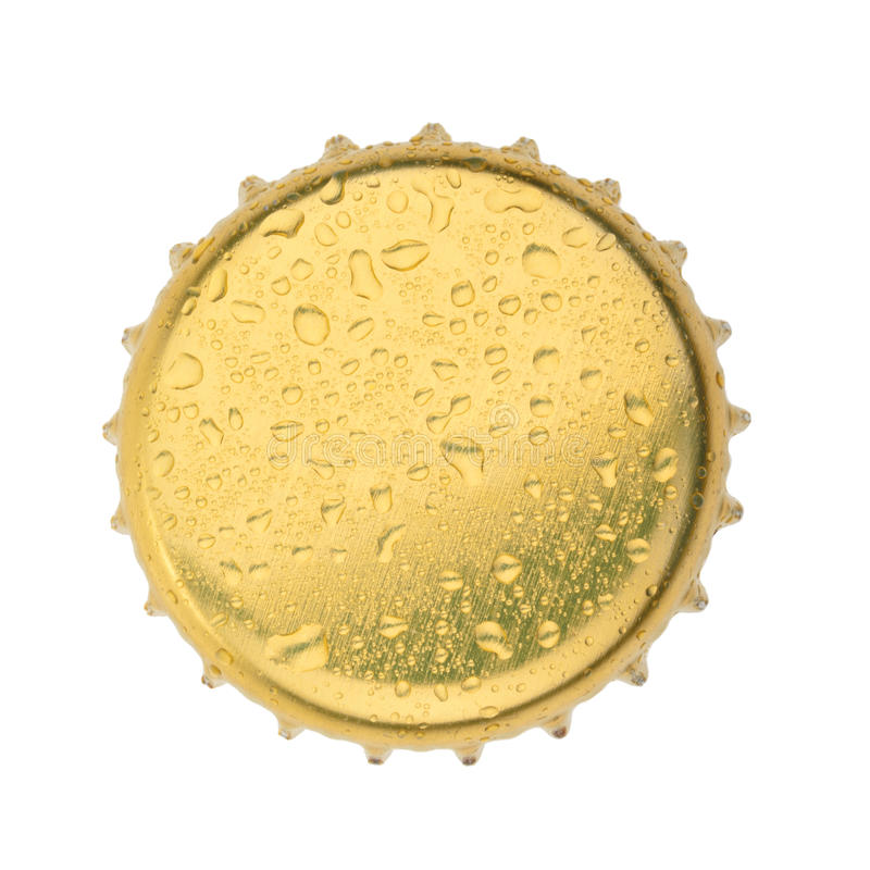 Bottle cap isolated on white background. without shadow.  royalty free stock photo