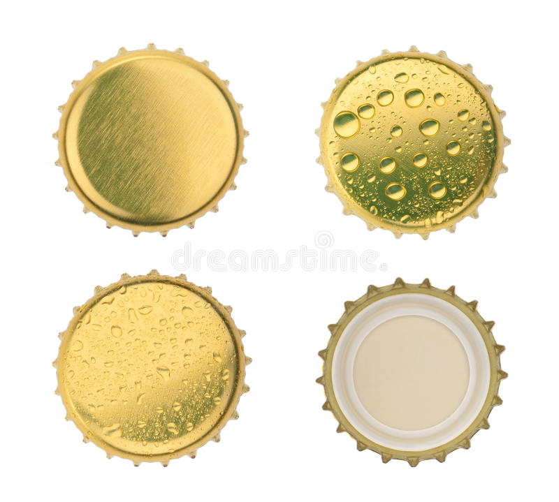 Bottle cap isolated on white background. without shadow.  stock photos