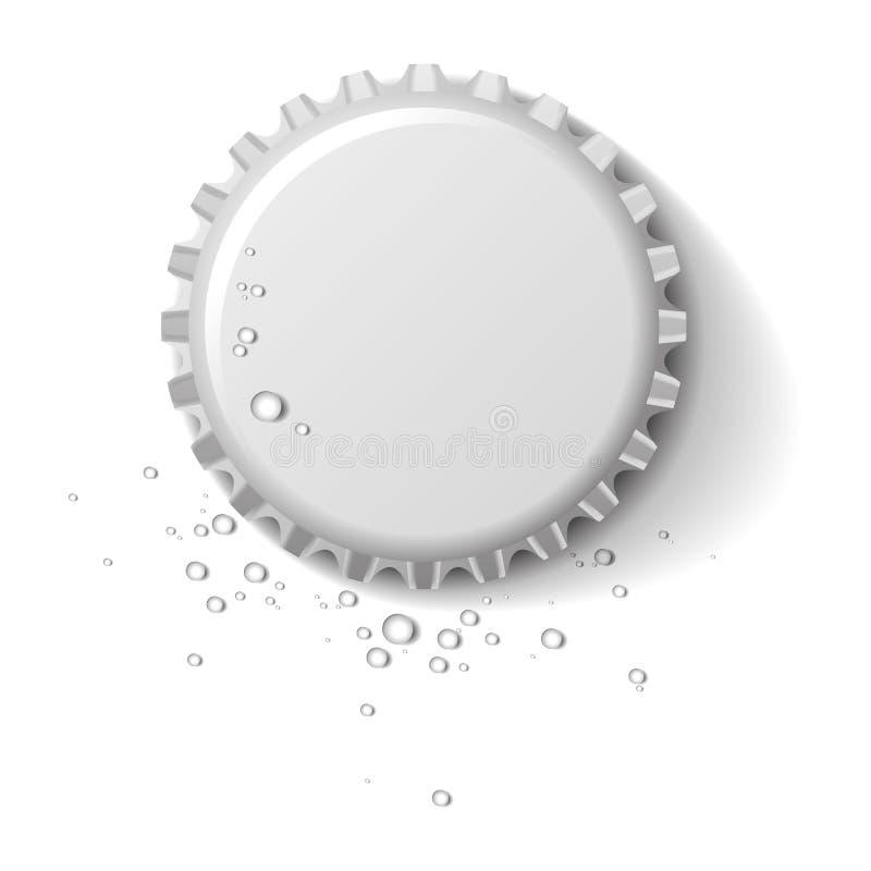 Bottle cap wet stock illustration